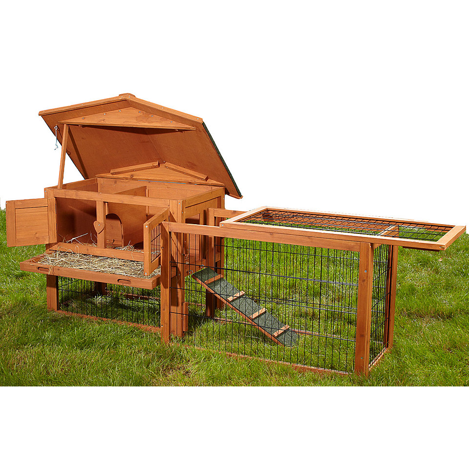kaninchenstall bobby mit auslauf jetzt f r 119 99 statt 149 99 euro bei hagebau. Black Bedroom Furniture Sets. Home Design Ideas