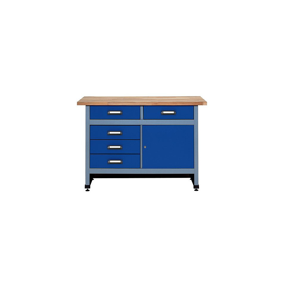 werkbank 170cm k pper von kuepper in blau pictures to pin. Black Bedroom Furniture Sets. Home Design Ideas