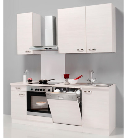 Küchenzeile »Davos«, mit Elektrogeräten, 210cm Breite