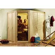 Sauna-Komplett-Set &raquo;Louisa&laquo;, 68 mm Wandst&auml;rke