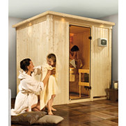 Spar-Set: Sauna mit Ofen &raquo;Sodin&laquo;, 68 mm Wandst&auml;rke