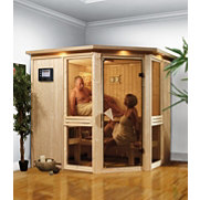 Spar-Set: Systemsauna &raquo;Emilia 1&laquo; mit Ofen, 68 mm Wandst&auml;rke