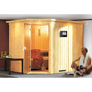 Spar-Set: Systemsauna &raquo;Malin&laquo; mit Ofen, 68 mm Wandst&auml;rke