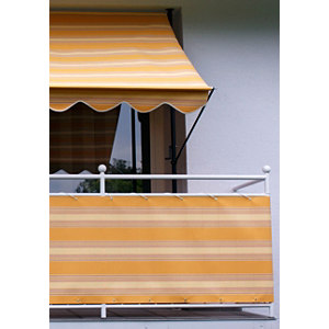 Balkonumspannung, Meterware, orange-beige