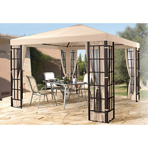 Pavillon in Aluminium-Optik