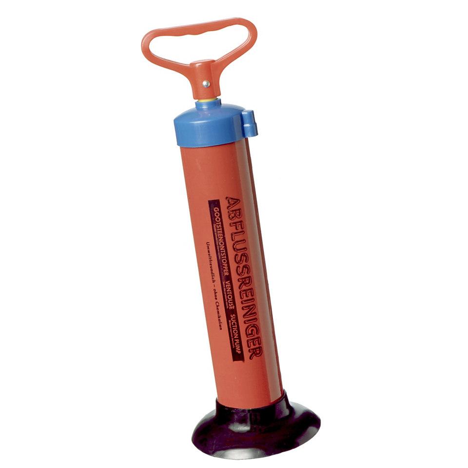 Abflu�reiniger mit Vakuum-Saugpumpe