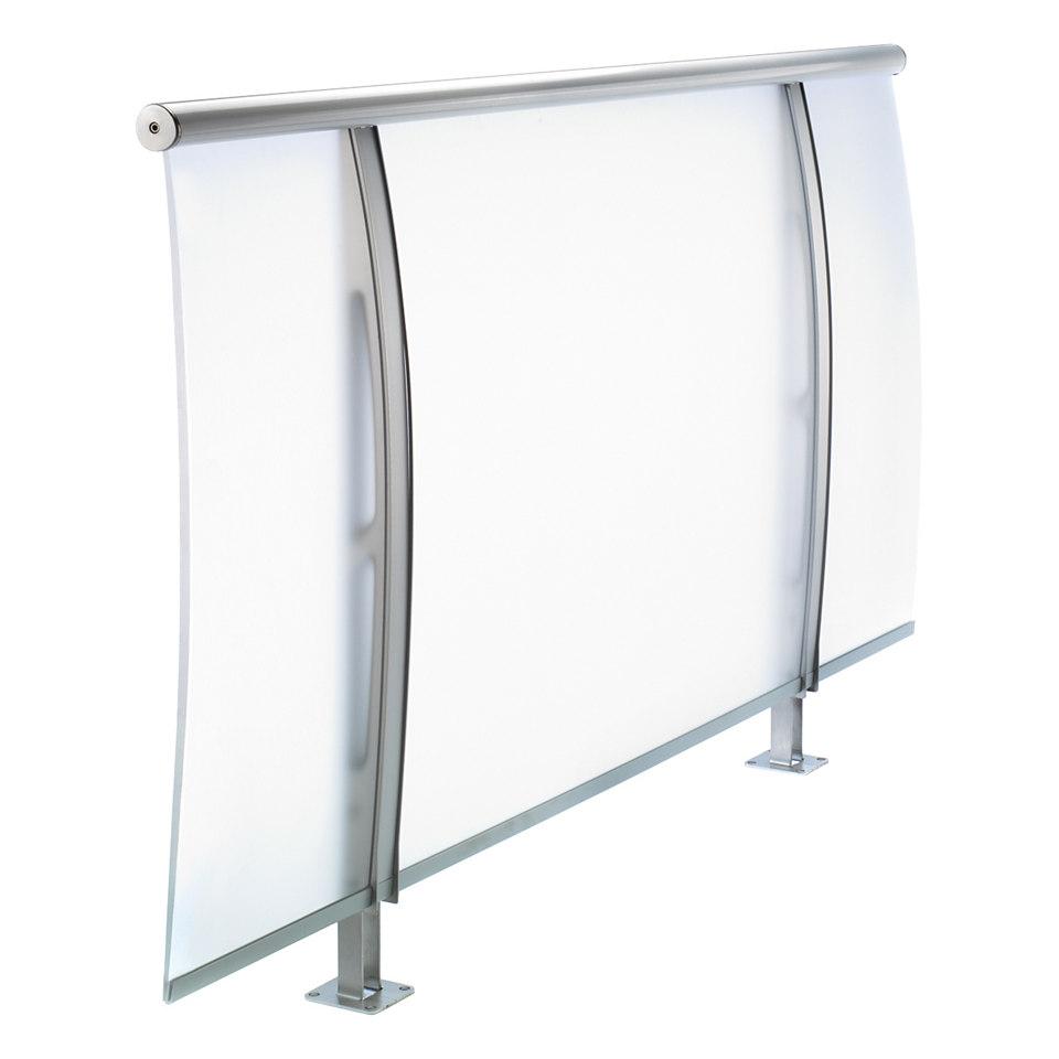 Acrylglasfüllung satiniert, Breite 98 cm