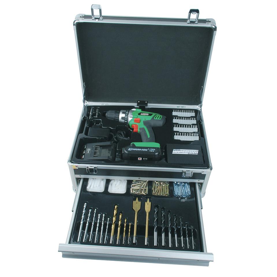 Akku-Bohrschrauber »17978« im Koffer mit 308-tlg. Zubehörset