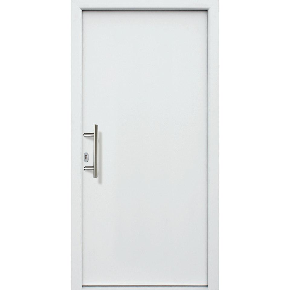 Alu-Haustür »A01«, weiß