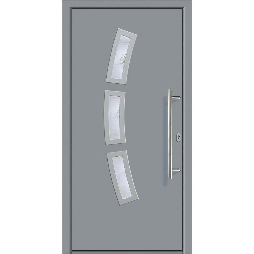 Alu-Haustür »A07«, grau