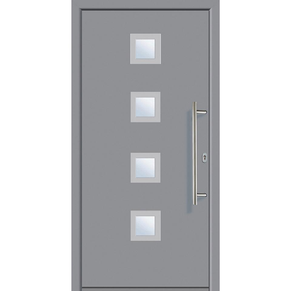 Alu-Haustür »A5«, grau