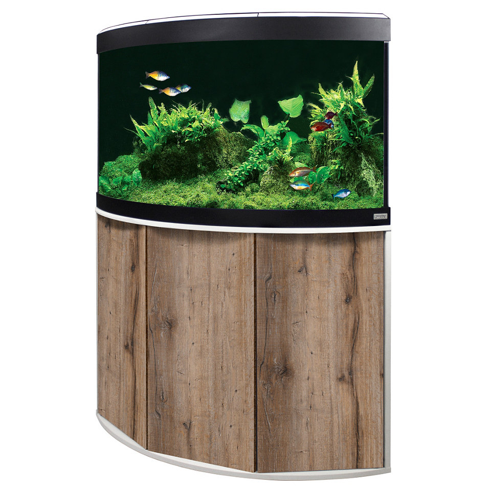 Aquarium Set »Venezia« in Eiche/weiß