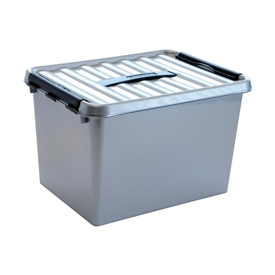 Aufbewahrungsboxen in silber, 6 x 22 Liter