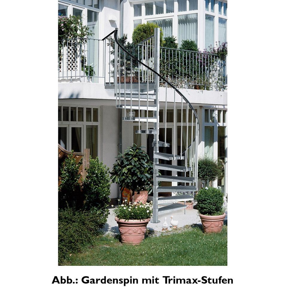 Außentreppe »Gardenspin«, mit Trimaxstufen, rechtslaufend