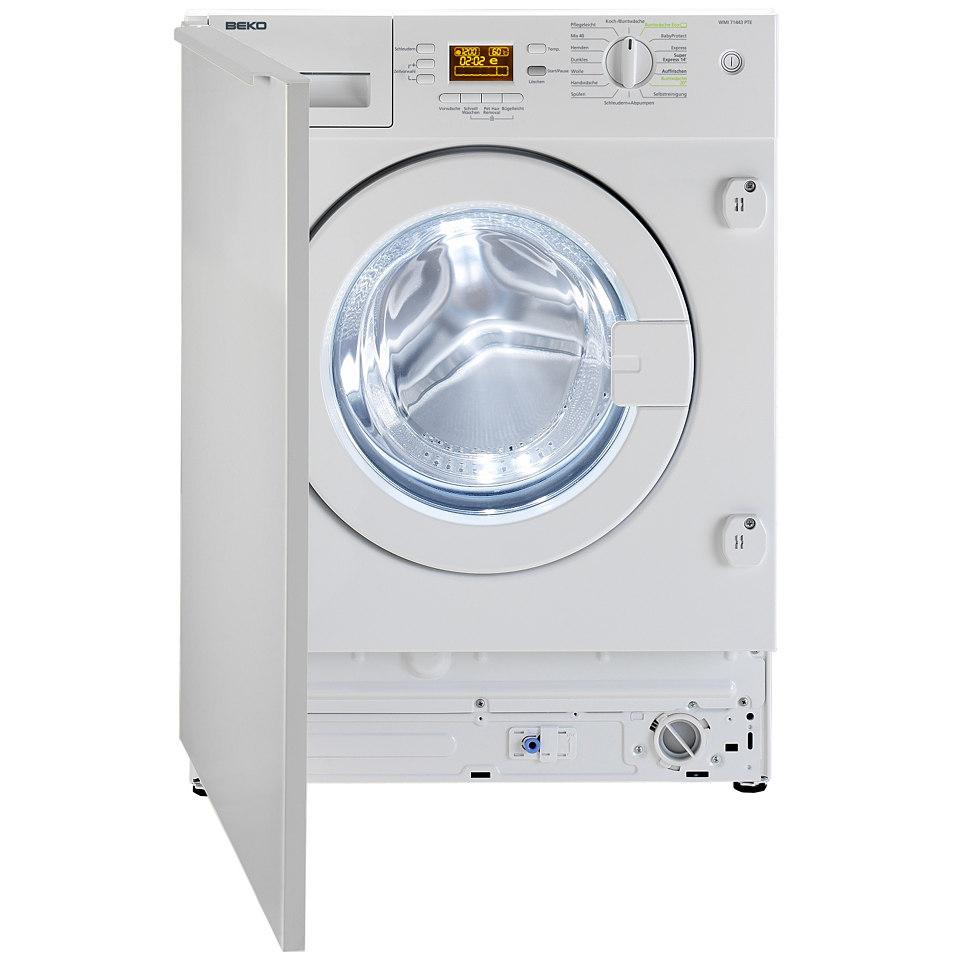 BEKO Einbau-Waschmaschine WMI7443PTE, A+++, 7 kg, 1400 U/Min
