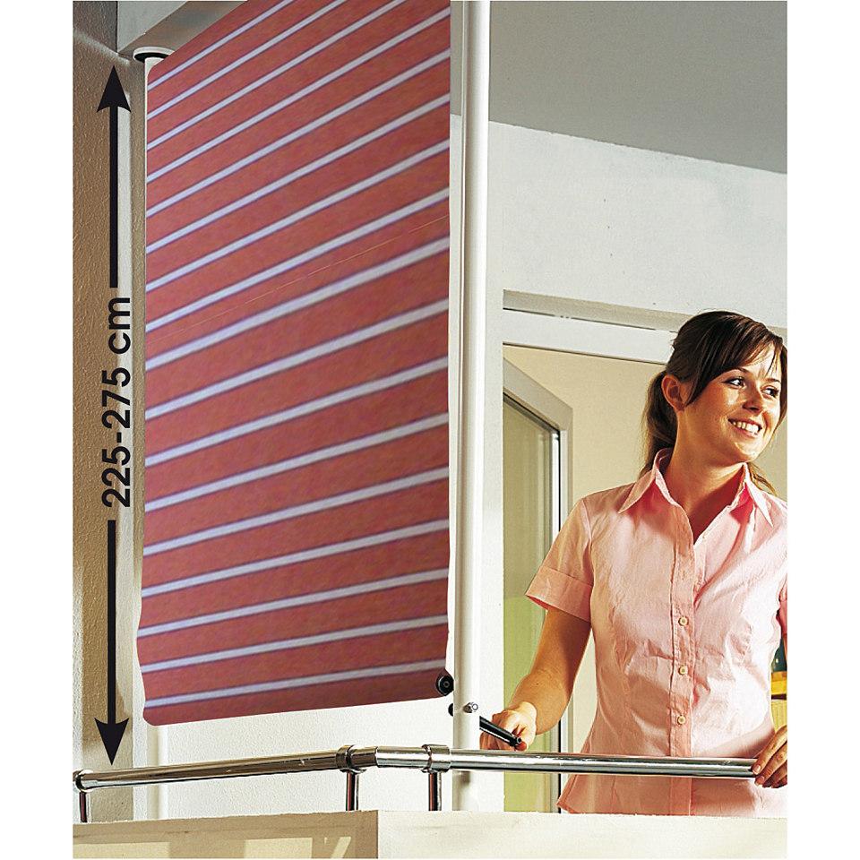 Balkonsichtschutz, rot-weiß