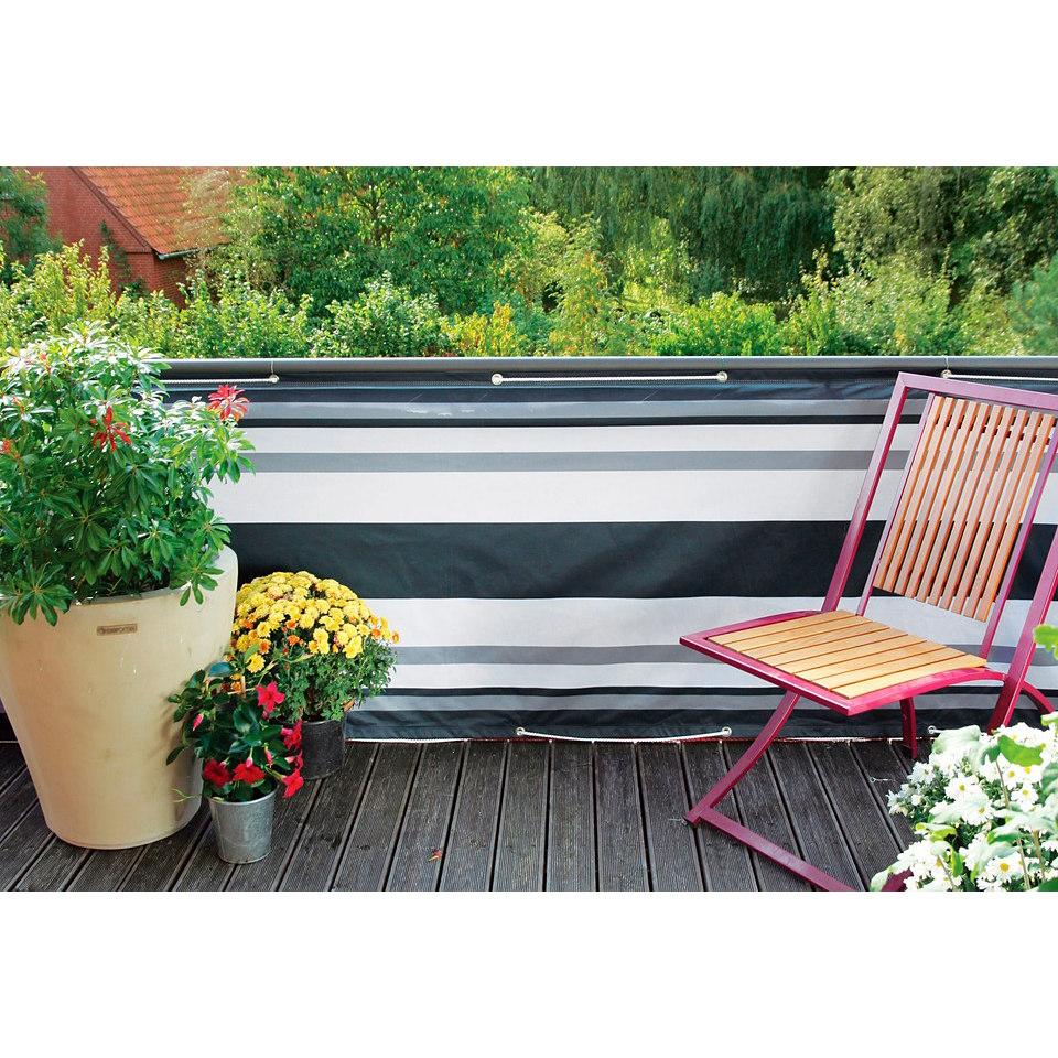 Balkonverkleidung in grau-anthrazit