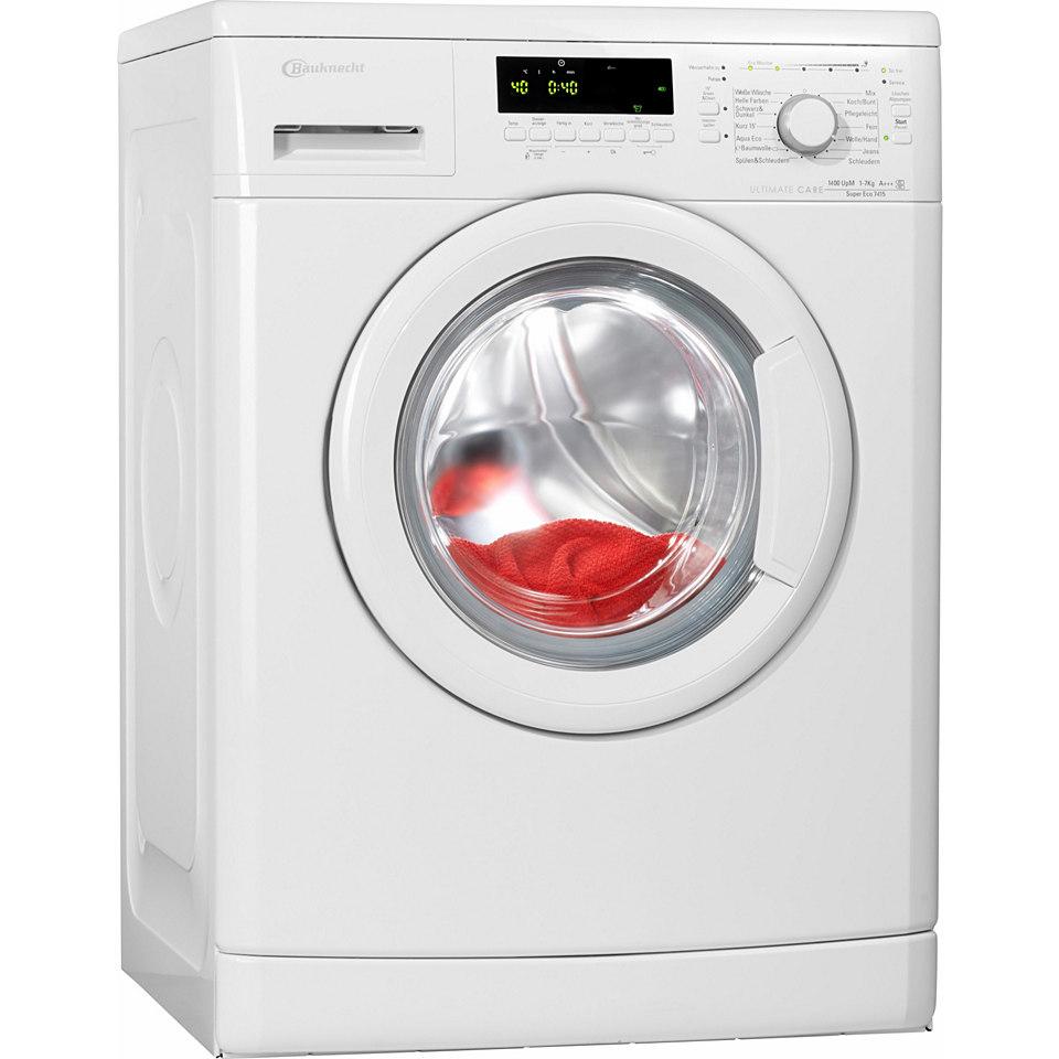 Bauknecht Waschmaschine Super Eco 7415, A+++, 7 kg, 1400 Touren