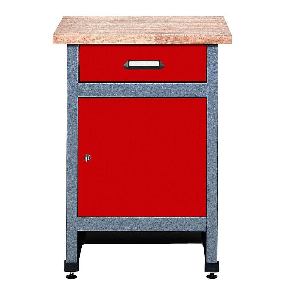 Beistelltisch »1 Tür, 1 Schublade, rot, in verschiedenen Höhen«