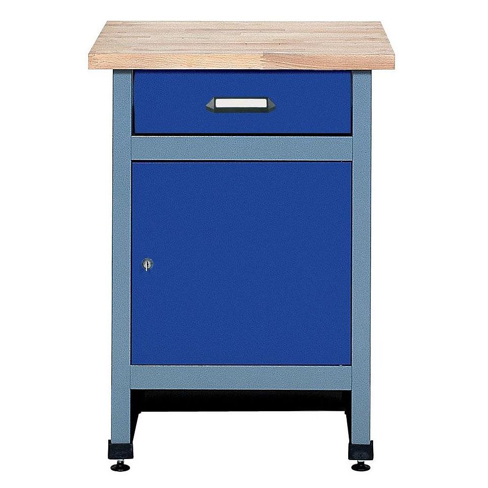 Beistelltisch �1 T�r, 1 Schublade, ultramarinblau, in verschiedenen H�hen�