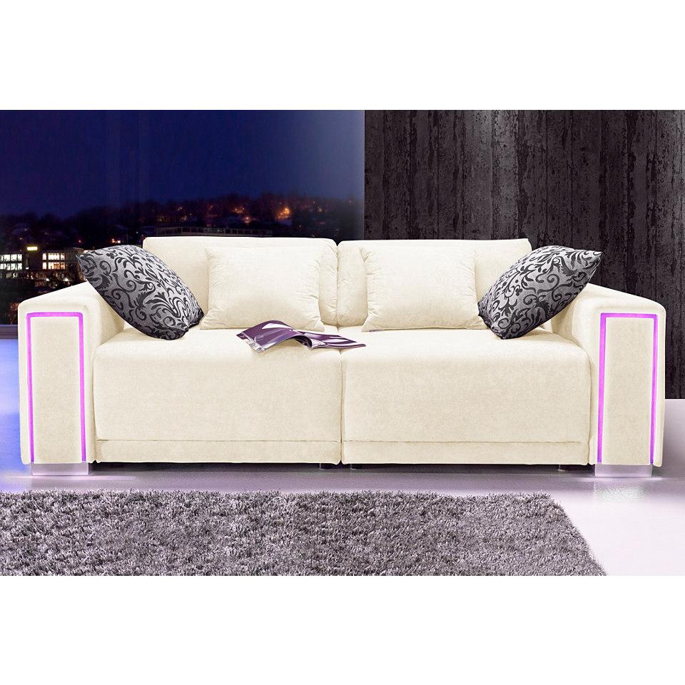 Big-Sofa, inklusive LED-RGB Beleuchtung