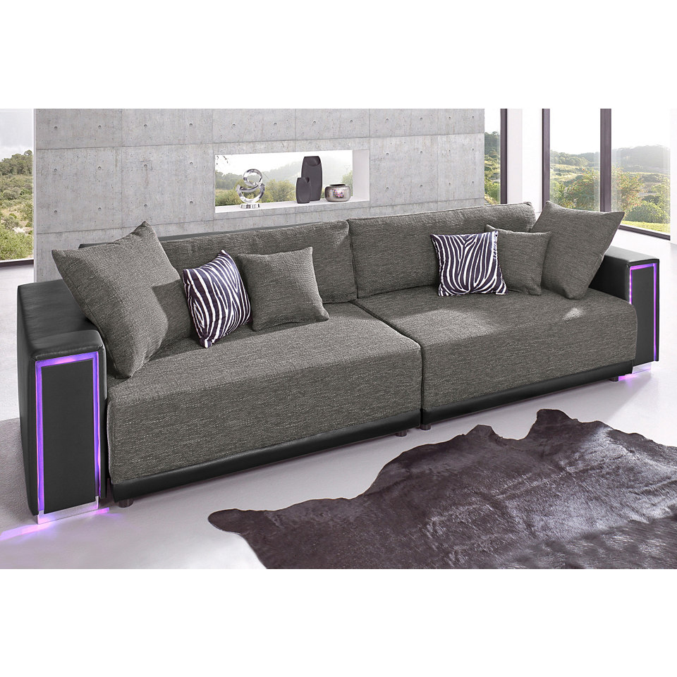 Big-Sofa, inklusive RGB-LED-Beleuchtung