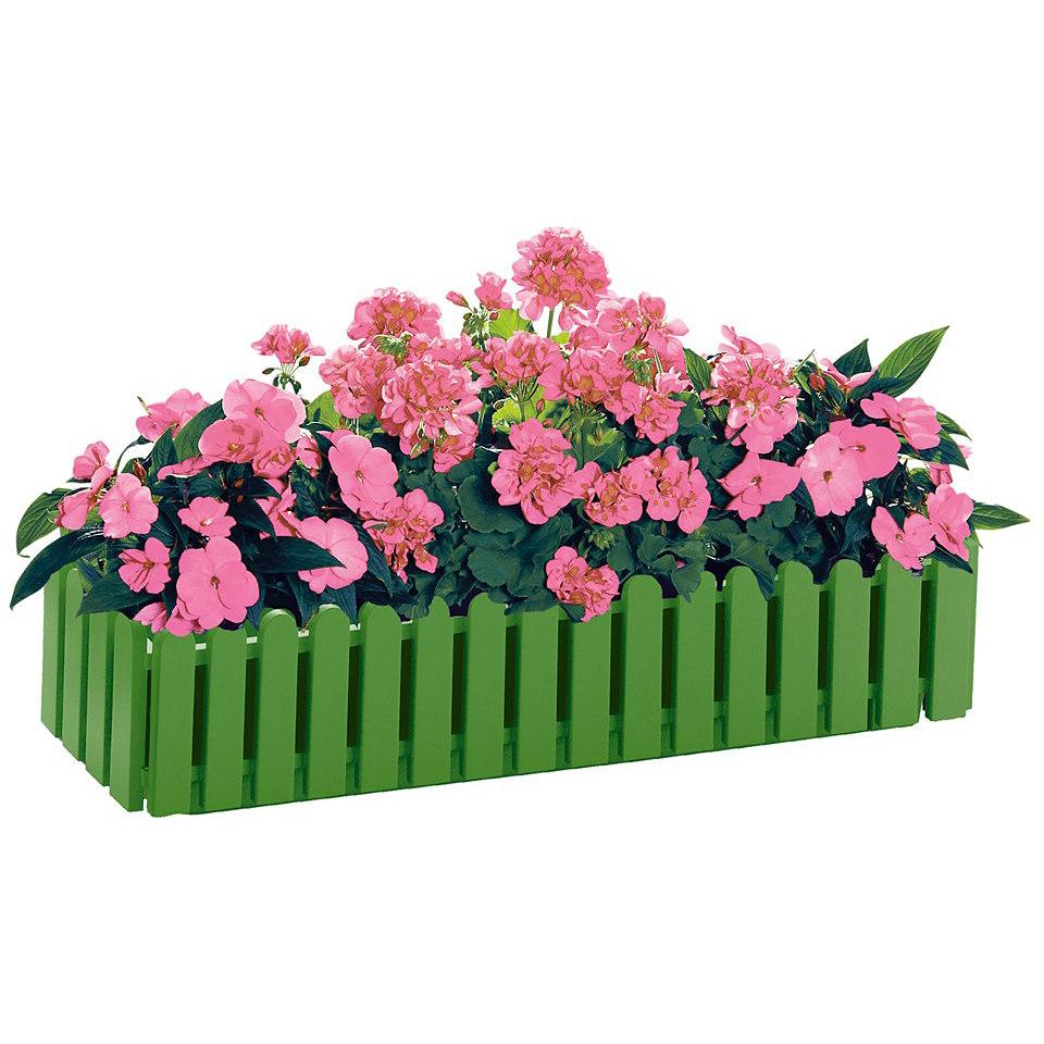 Blumenkasten »Landhaus« in dunkelgrün, 50 cm breit