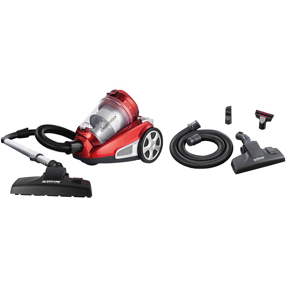 Clean Maxx Zyklon-Staubsauger EnergiePro, Beutellos, rot/silber