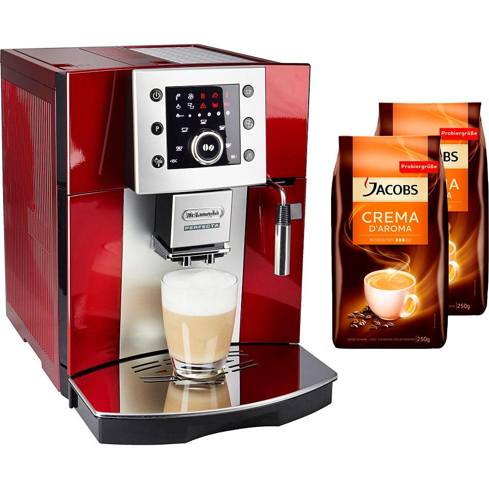 DeLonghi Kaffeevollautomat »Perfecta ESAM 5400«, rot-metallic