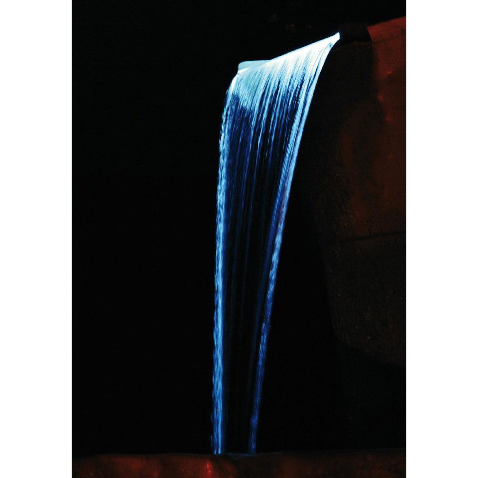 Design Edelstahlwasserfall �Niagara�, mit LED Beleuchtung