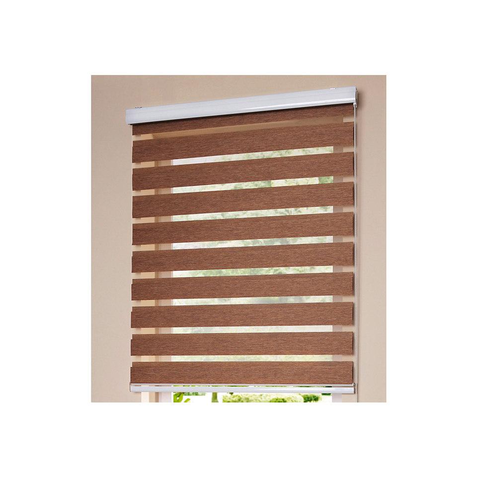 Doppelrollo, my home, �Blackwater Holzstruktur-Optik�, Lichtschutz