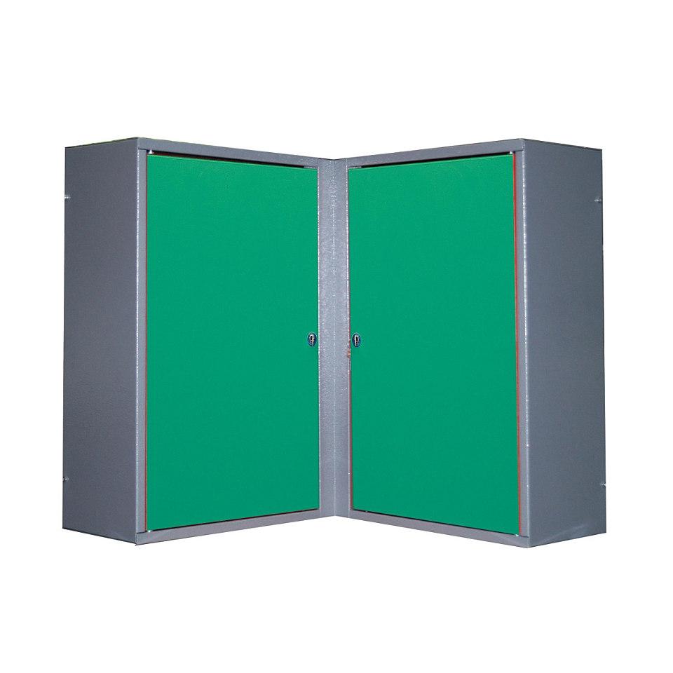 Eck-Hängeschrank »2 Türen, 4 Einlegeböden, in grün«
