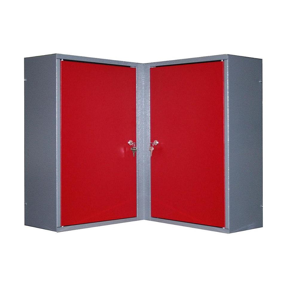 Eck-Hängeschrank »2 Türen, 4 Einlegeböden, in rot«