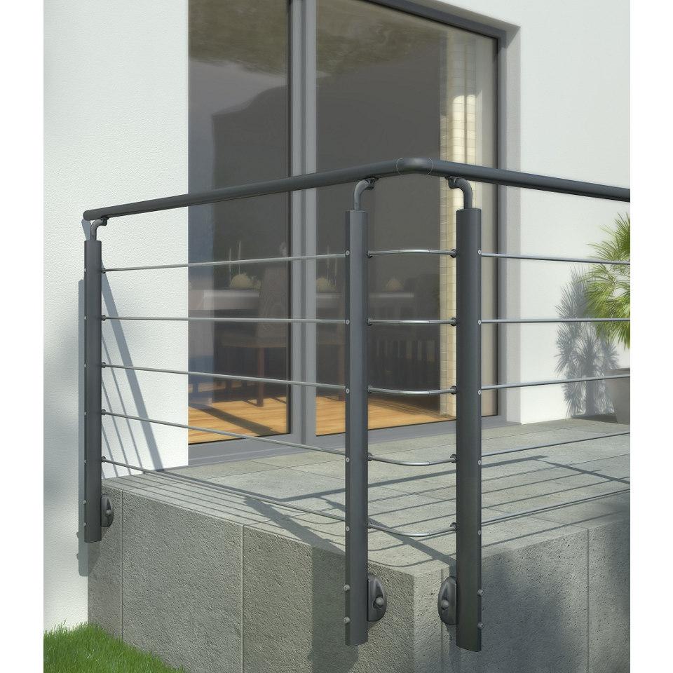 Eckverbindungsset für Prova-Geländer, anthrazit
