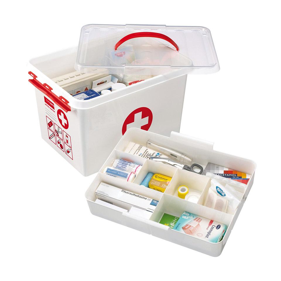 Erste-Hilfe-Aufbewahrungsboxen, 2er Set