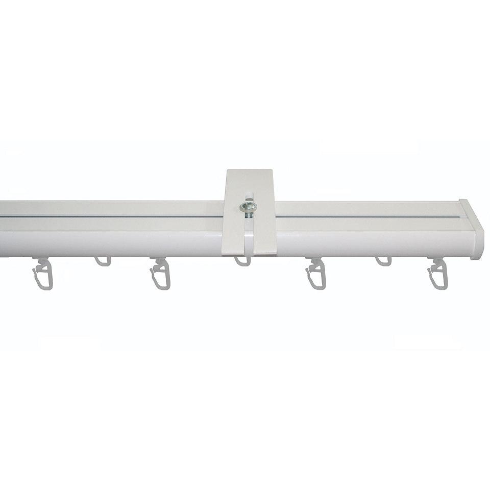 Fl�chenvorhangschiene mit 3 L�ufen nach Ma� 20 x 55 mm, Garesa, �Compact Wandmontage�