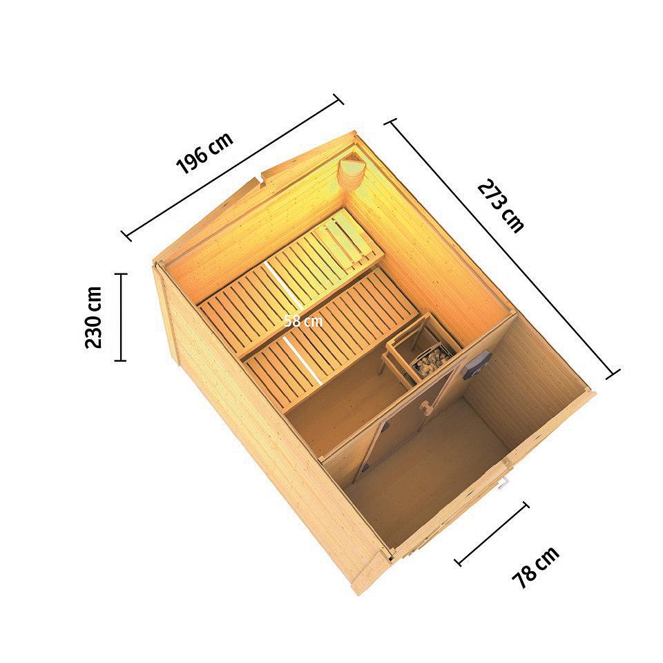 Frontsaunahaus �Bennet� inkusive Vorraum, 38 mm Wandst�rke