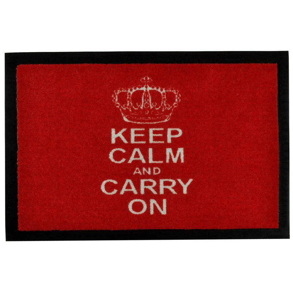 Fußmatte »Keep Calm«, rutschhemmend beschichtet, Hanse Home