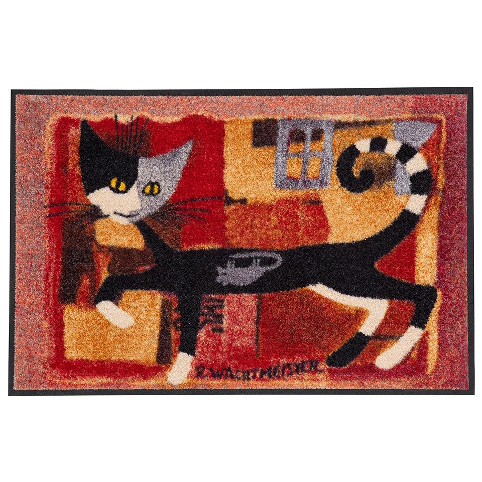 Fußmatte, Rosina Wachtmeister »Ivano«, mit Katzenmotiv