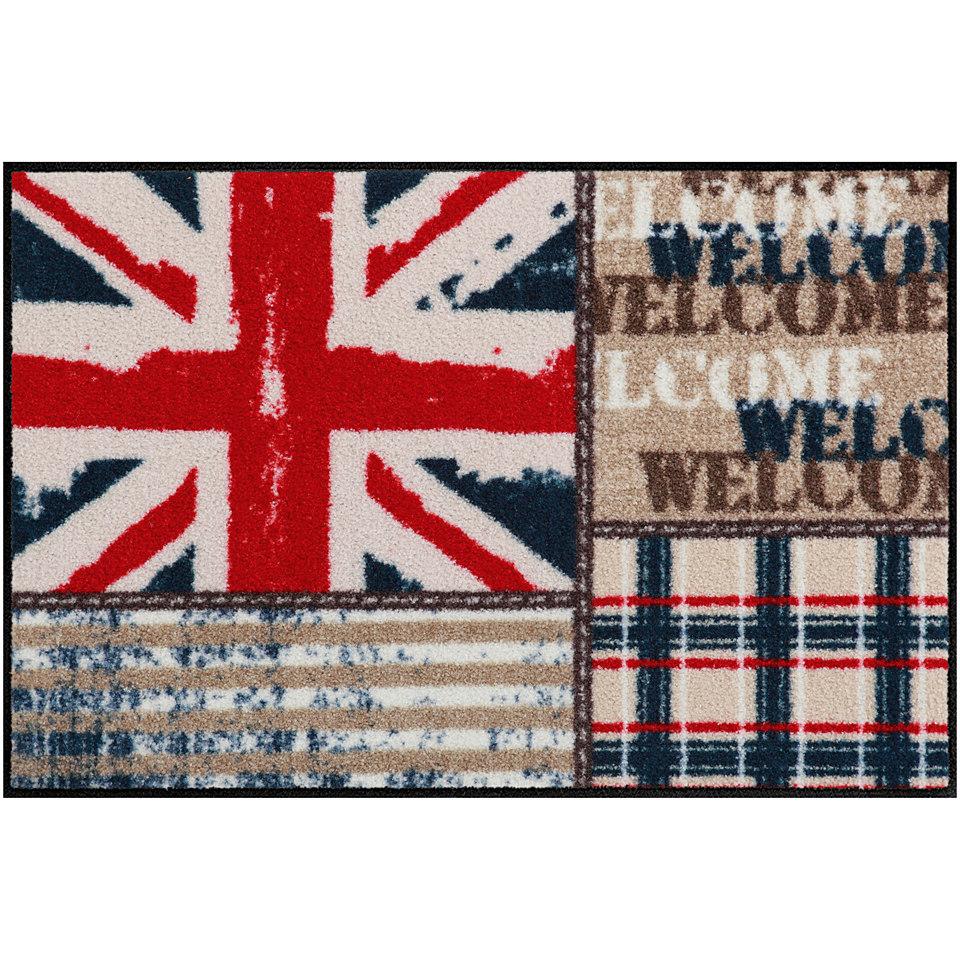 Fu�matte, Salonloewe, �Union Jack Patchwork�