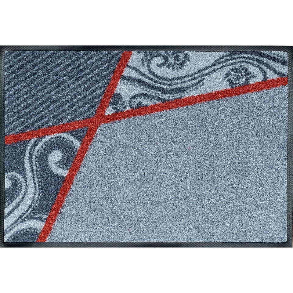 Fußmatte, wash+dry by Kleen-Tex, »Belgo grey«, rutschhemmend beschichtet
