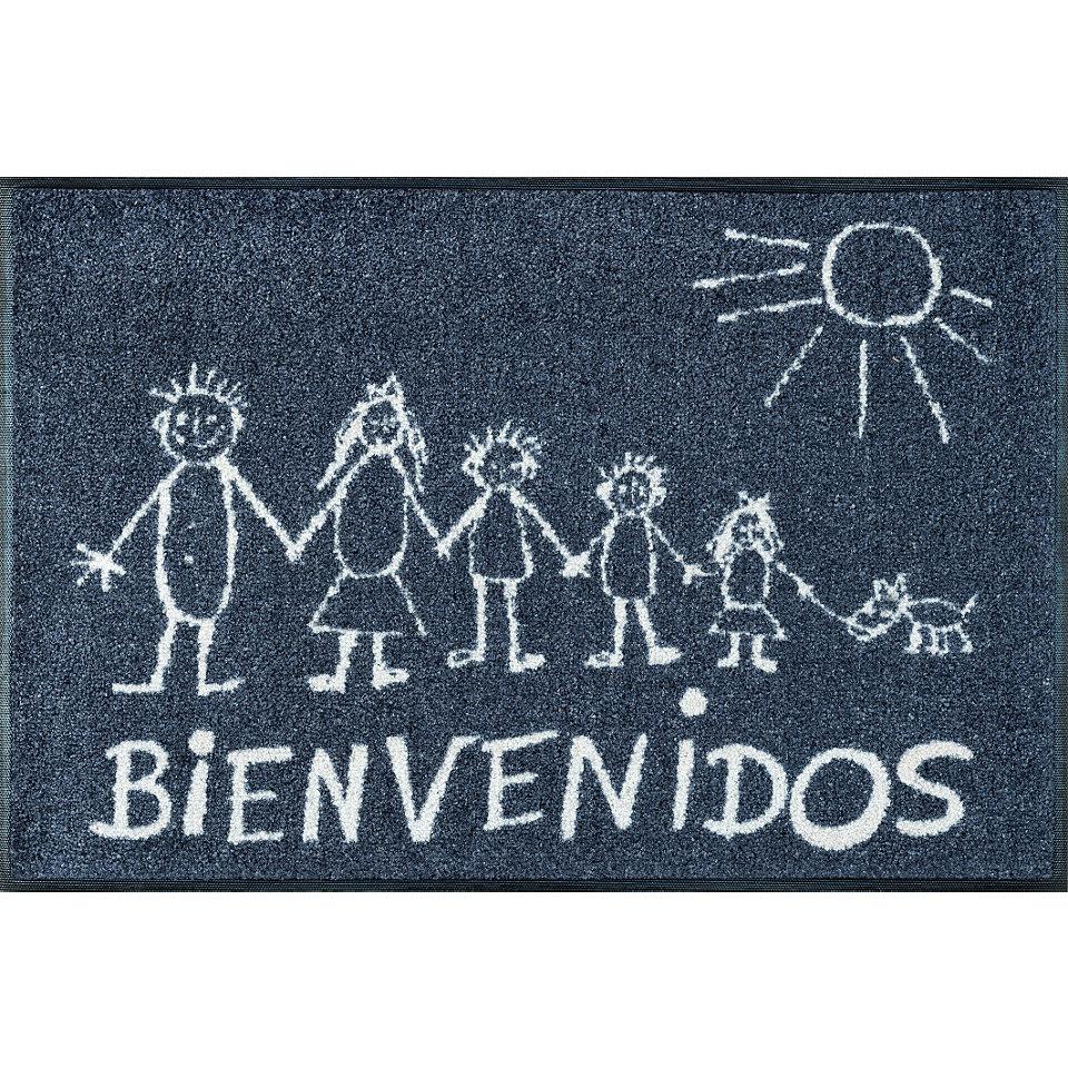 Fußmatte, wash+dry by Kleen-Tex, »Bienvenidos«, rutschhemmend beschichtet