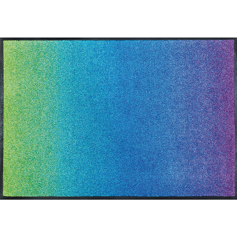 Fußmatte, wash+dry by Kleen-Tex, »Blue Rainbow«, rutschhemmend beschichtet