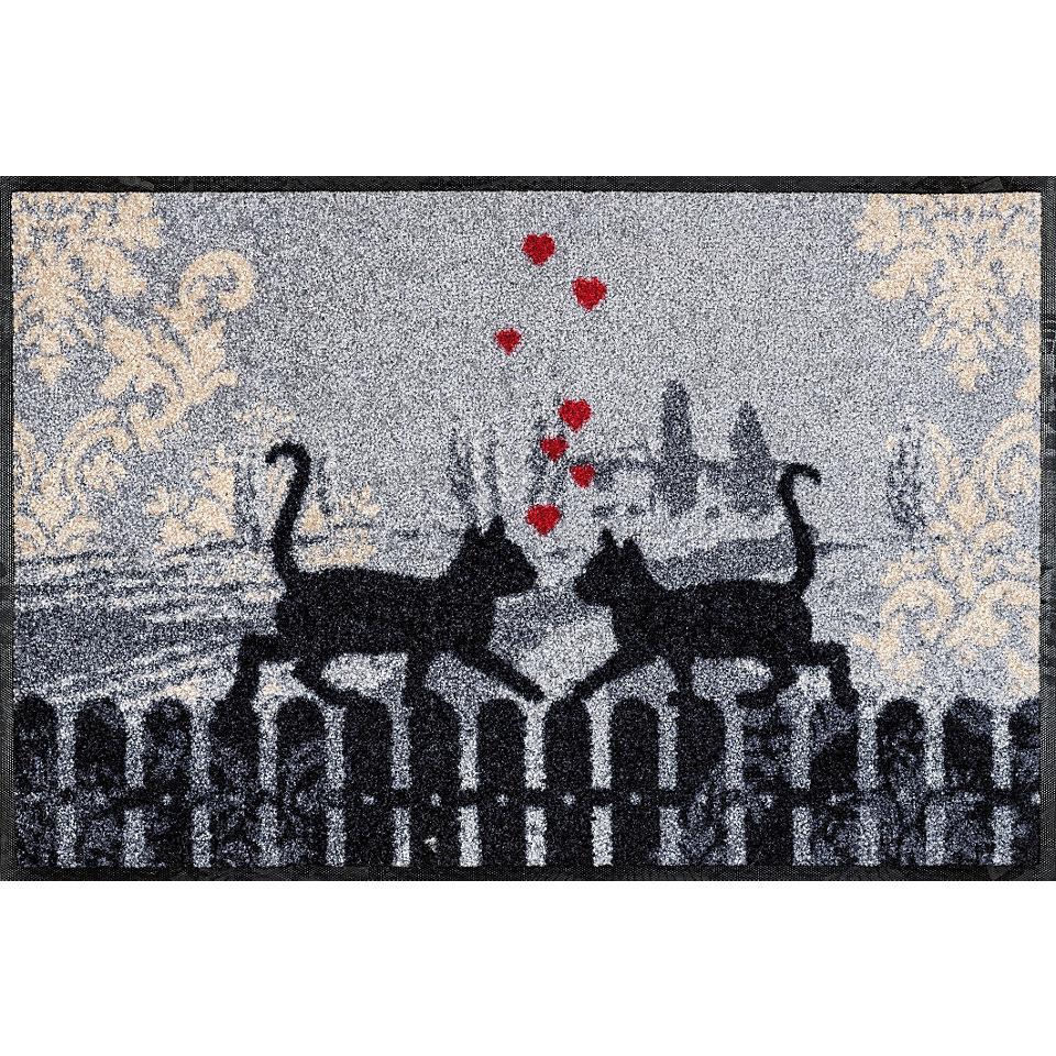 Fußmatte, wash+dry by Kleen-Tex, »Cats in Love«, rutschhemmend beschichtet