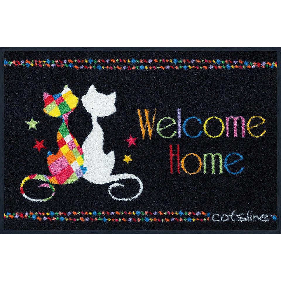 Fu�matte, wash+dry by Kleen-Tex, �Catsline Welcome Color�, rutschhemmend beschichtet