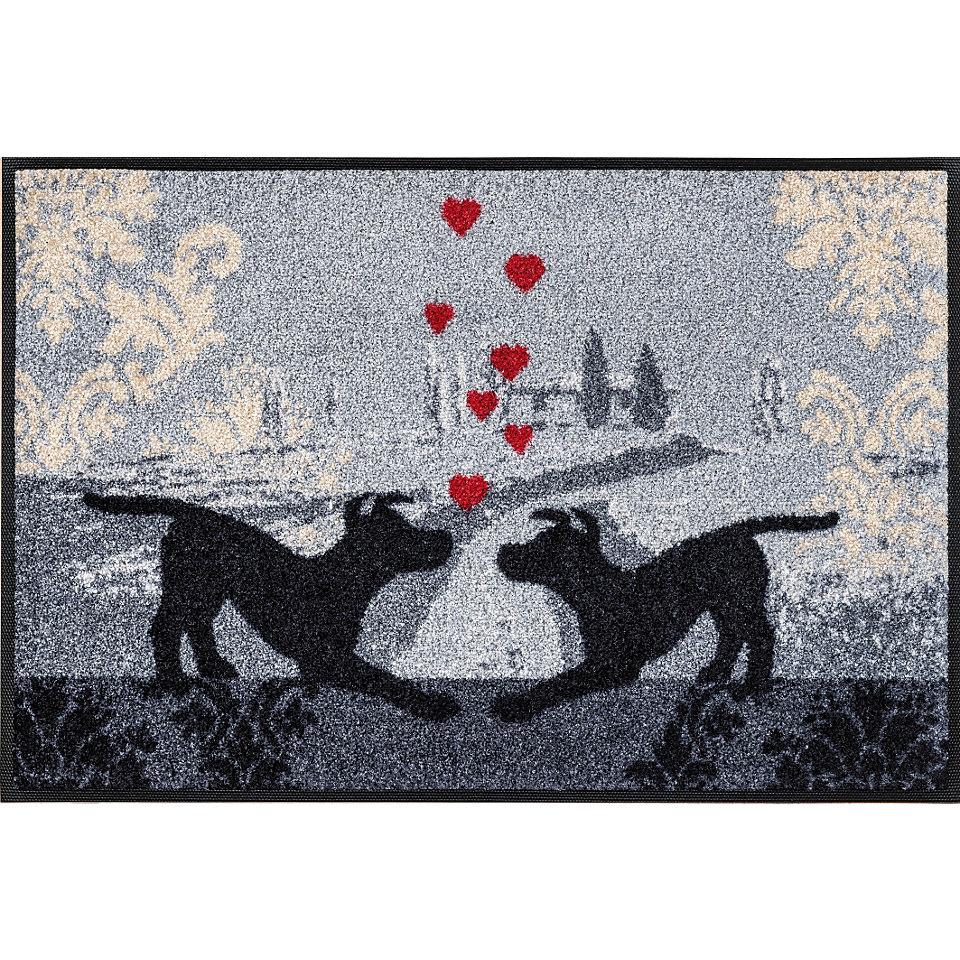Fu�matte, wash+dry by Kleen-Tex, �Dogs in Love�, rutschhemmend beschichtet