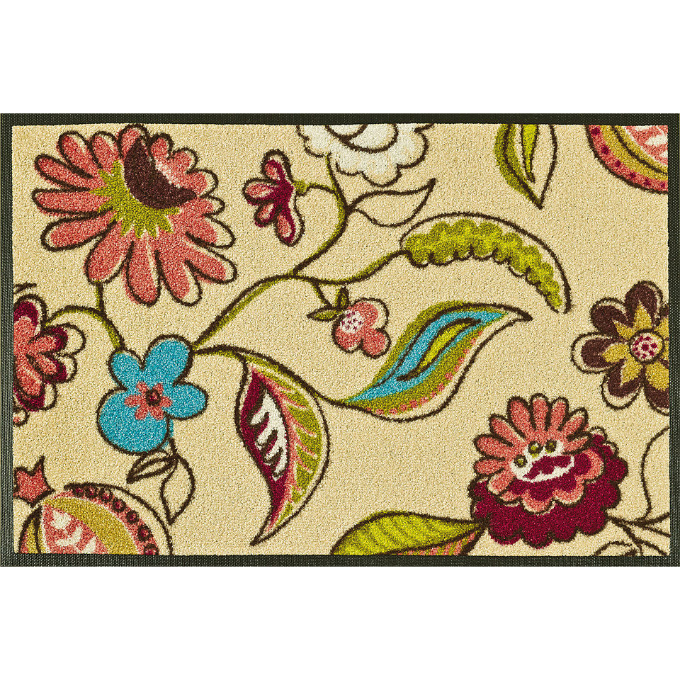 Fußmatte, wash+dry by Kleen-Tex, »Floral Stripes«, rutschhemmend beschichtet