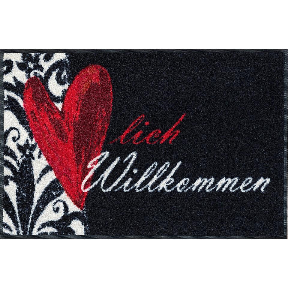 Fußmatte, wash+dry by Kleen-Tex, »Herzlich Willkommen«, rutschhemmend beschichtet