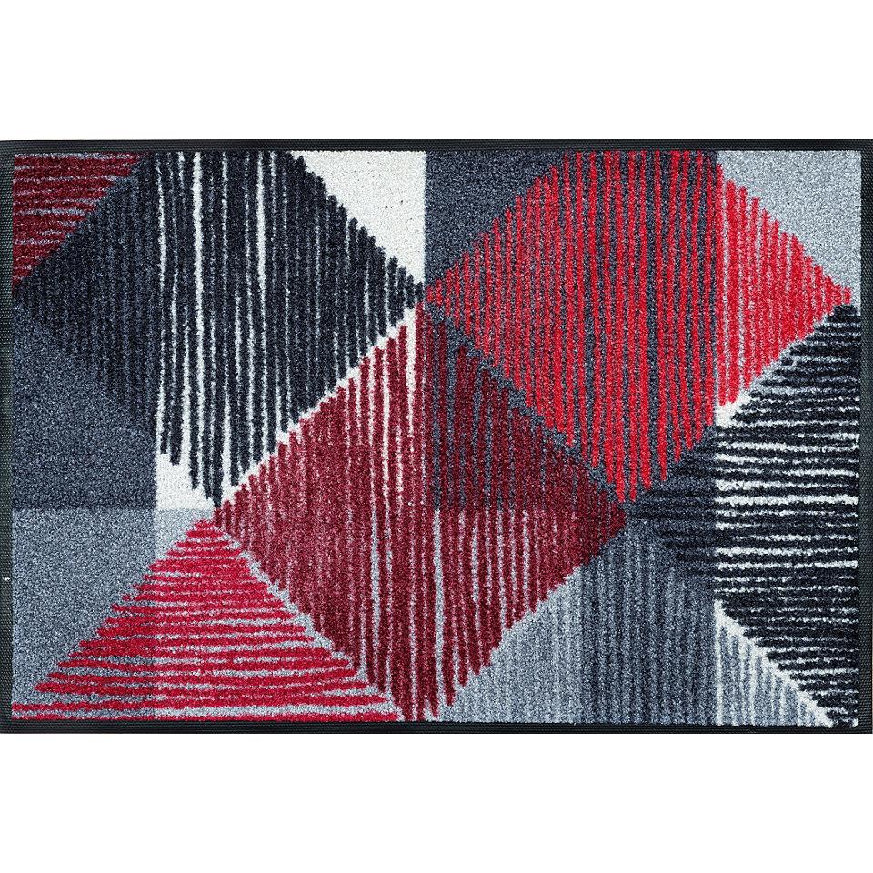 Fußmatte, wash+dry by Kleen-Tex, »Lines and Boxes«, rutschhemmend beschichtet