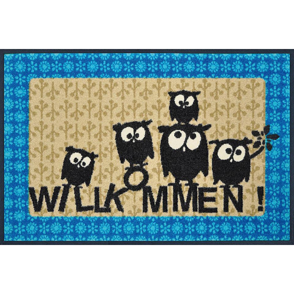Fußmatte, wash+dry by Kleen-Tex, »Lotta, Mathilda & Co.«, rutschhemmend beschichtet